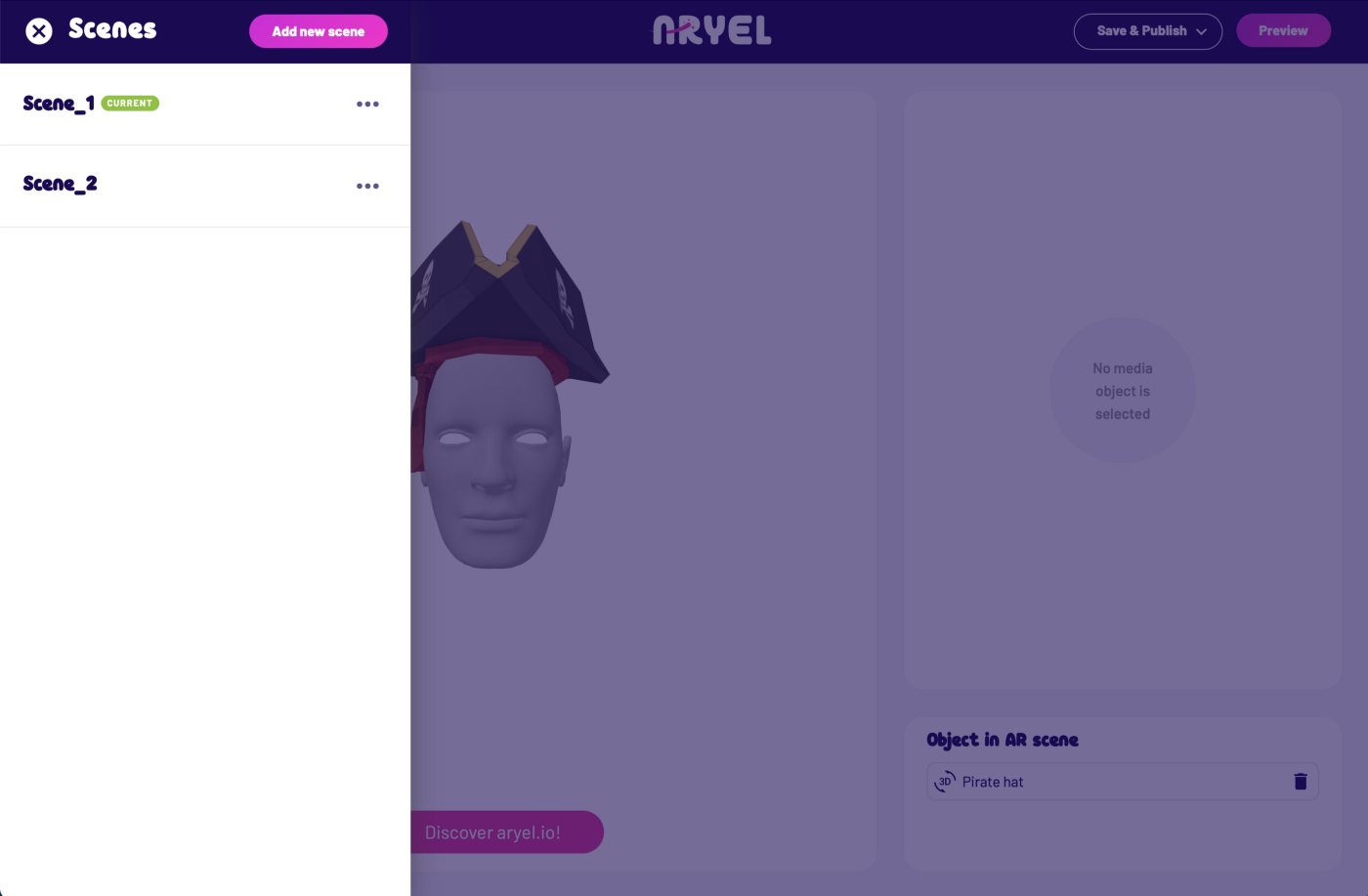 Getting Started Aryel face Tracking Step 6b