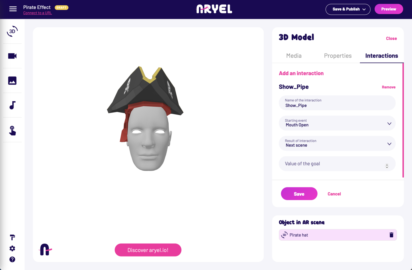 Getting started Aryel Face Tracking Step 6